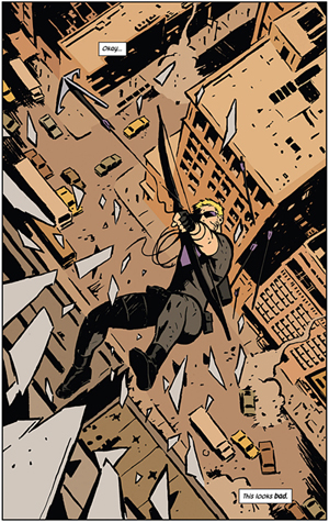 Hawkeye #1, by Matt Fraction / David Aja