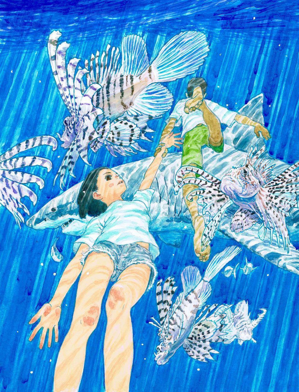 《海兽之子》彩绘原稿
